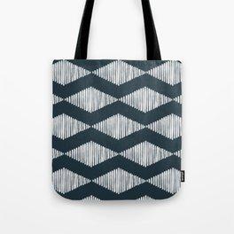 Acoustic Wave Navy Tote Bag