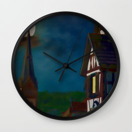 Black Forest Travel Poster Germany Wall Clock