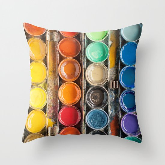 The Painter II (Vintage Edition) Throw Pillow