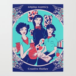 Women Artists (Creative Outlaws) Poster