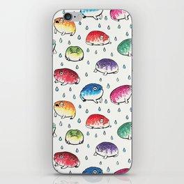 Round Rain Frogs iPhone Skin