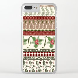 Mistletoe Ugly Sweater Clear iPhone Case