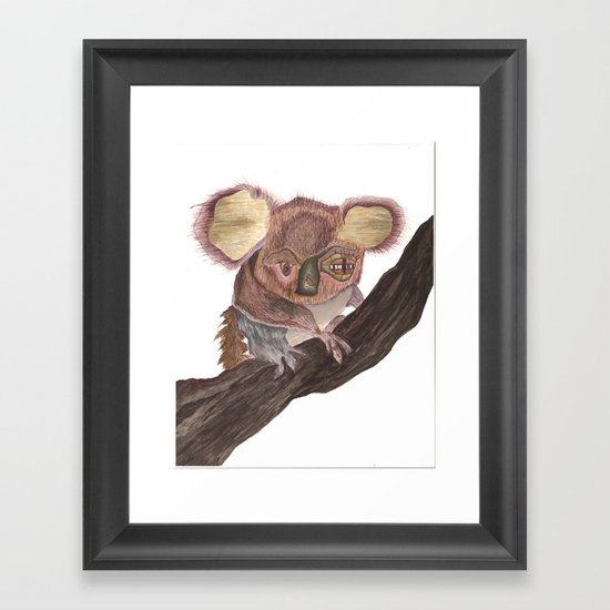 Koala Monstrosity Framed Art Print
