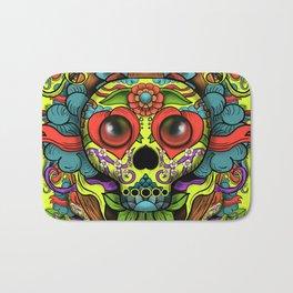 Cute Skull Dia de Los Muertos Bath Mat
