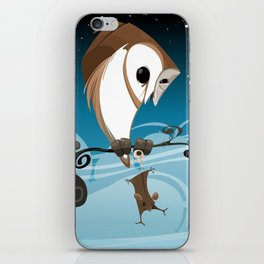 Barn Owl and Mouse iPhone Skin