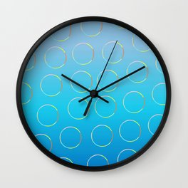 effect of bubbles Wall Clock