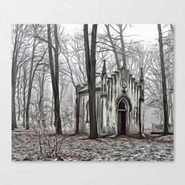 Little Forest Chapel Airbrush Artwork Canvas Print