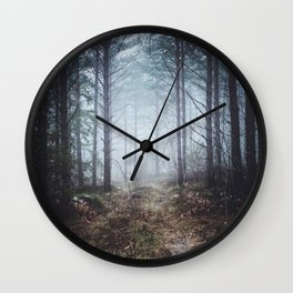No more roads Wall Clock