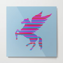 Pegasus Stripes Metal Print