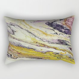 Planet of reptiles, abstract, acrylic on canvas Rectangular Pillow