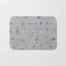 Cactus Silk Pattern in Grey Bath Mat