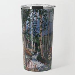 Floxgloves and White Birch amid the Stream landscape by Nikolai Astrup Travel Mug