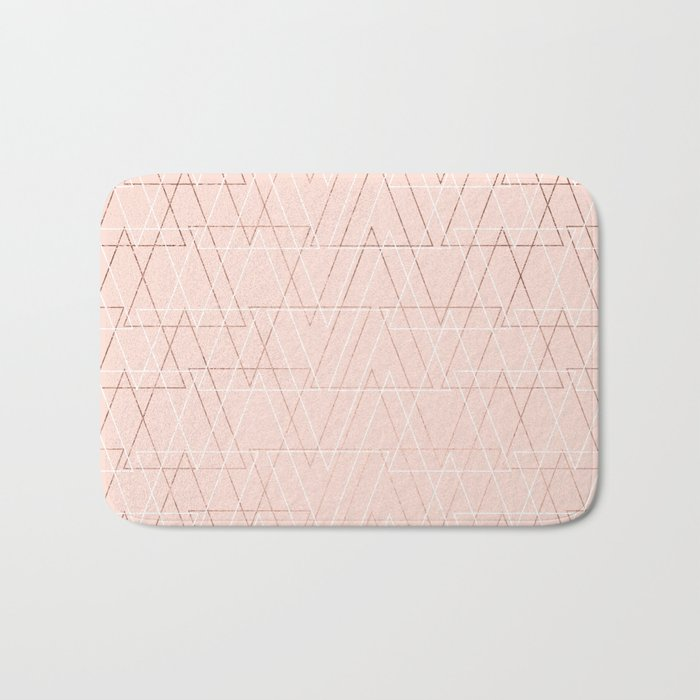 modern white rose gold abstract geometric triangles on blush pink