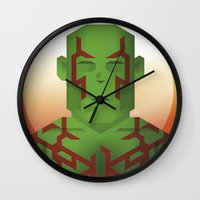guardians of the galaxy Wall Clocks featuring Guardians of the Galaxy - Drax by Casa del Kables