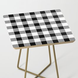 Buffalo Check - black / white Side Table