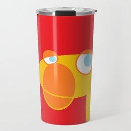 Disappointed Sock Monkey Travel Mug
