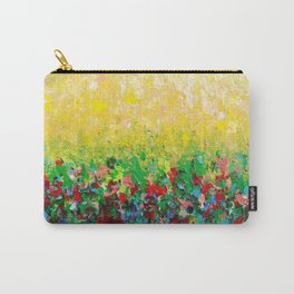 NATURE'S LIVING ROOM - Gorgeous Bright Bold Nature Wildflower Field Landscape Abstract Art New 2012 Carry-All Pouch