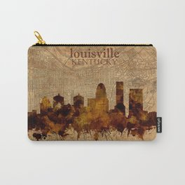 louisville skyline vintage 4 Carry-All Pouch