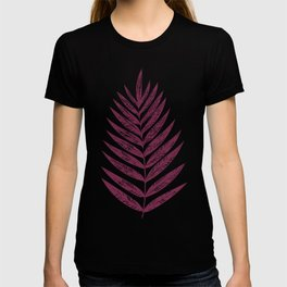 Simple Botanical Design in Dark Plum T-shirt