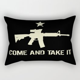 M4 Assault Rifle - Come and Take It Rectangular Pillow