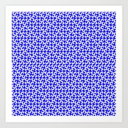 Blue Bitmap Pattern for Brian Art Print