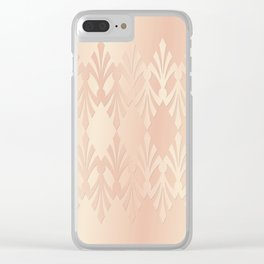 Art Deco Delicate Rose Gold Pattern Clear iPhone Case