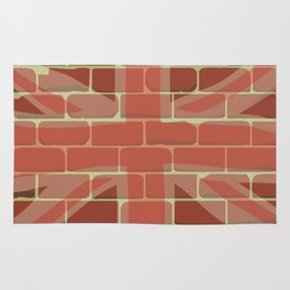 Union Jack Sprayed on a Wall Rug