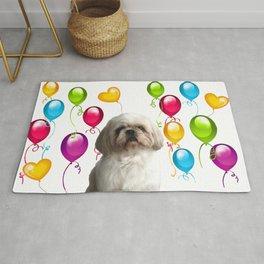 Paul Top Model - Shih tzu dog - Colorful Balloons Rug