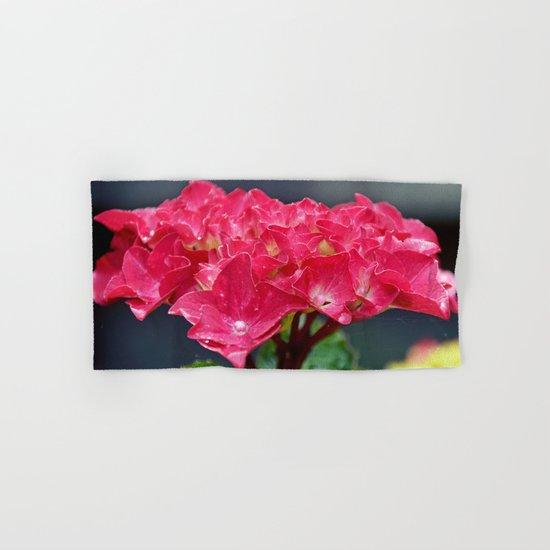 Pink Hydrangea Hand & Bath Towel