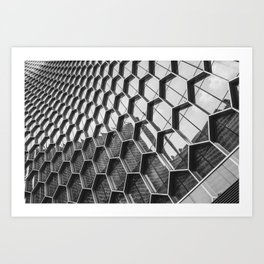 Architectural photography of glass buliding Art Print