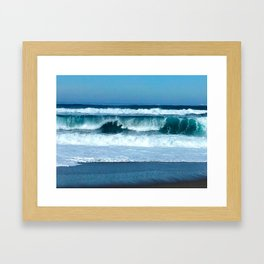 Pacific Wave 1 Framed Art Print