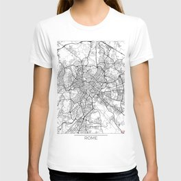 Rome Map White T-shirt