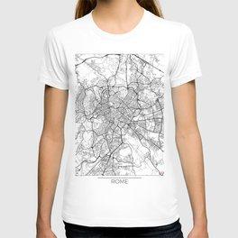 Rome Map White T-shirt