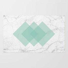 Marble Scandinavian Design Geometric Squares Rug