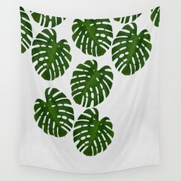 Monstera Leaf III Wall Tapestry