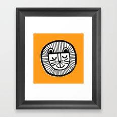 HAPPY LION Framed Art Print