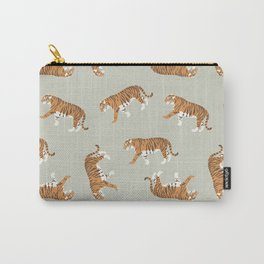 Tiger Trendy Flat Graphic Design Carry-All Pouch