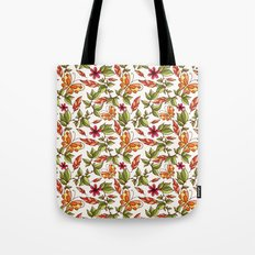 Butterflies on the leaves Tote Bag