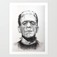 frankenstein Art Prints featuring Frankenstein by calibos