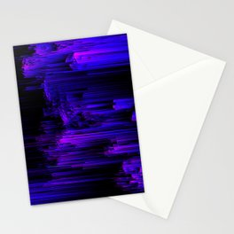 Ultraviolet Light Speed - Abstract Glitch Pixel Art Stationery Cards
