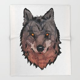 Wolf Mother Throw Blanket