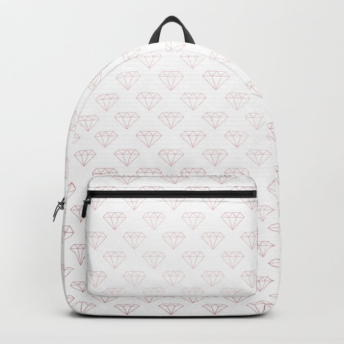 Simply Diamonds in Rose Gold Sunset Backpack