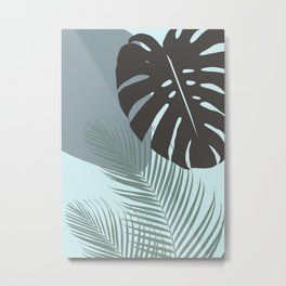 Minimal Monstera Palm Finesse #2 #tropical #decor #art #society6 Metal Print