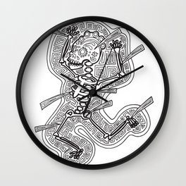 Temiminaloyan art from The Path  Mictlan Wall Clock