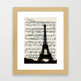 The Paris Music Sheet Framed Art Print