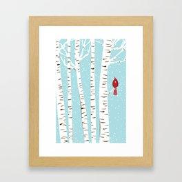 Winter Cardinal Wall Art  Framed Art Print
