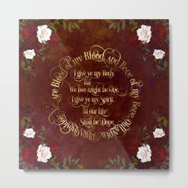 Outlander Wedding Vows Metal Print
