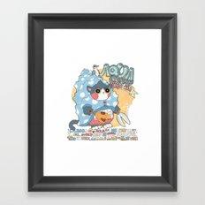 Aqua cat_Puno Framed Art Print