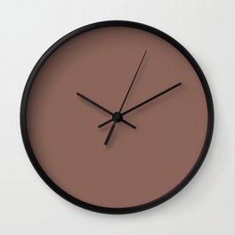 COGNAC solid color Wall Clock