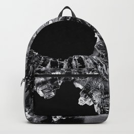 High Contrast Bullet Hole - Kill Your Television Abstract Backpack